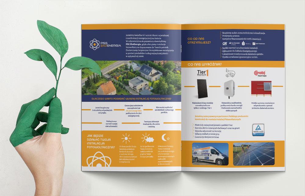 PSGEko broszura zaprojektowana przez Fesido